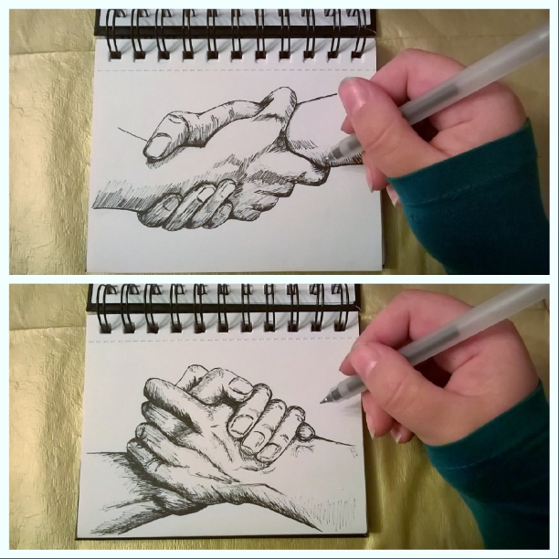 Drawing of Hands Abigail J Marsh