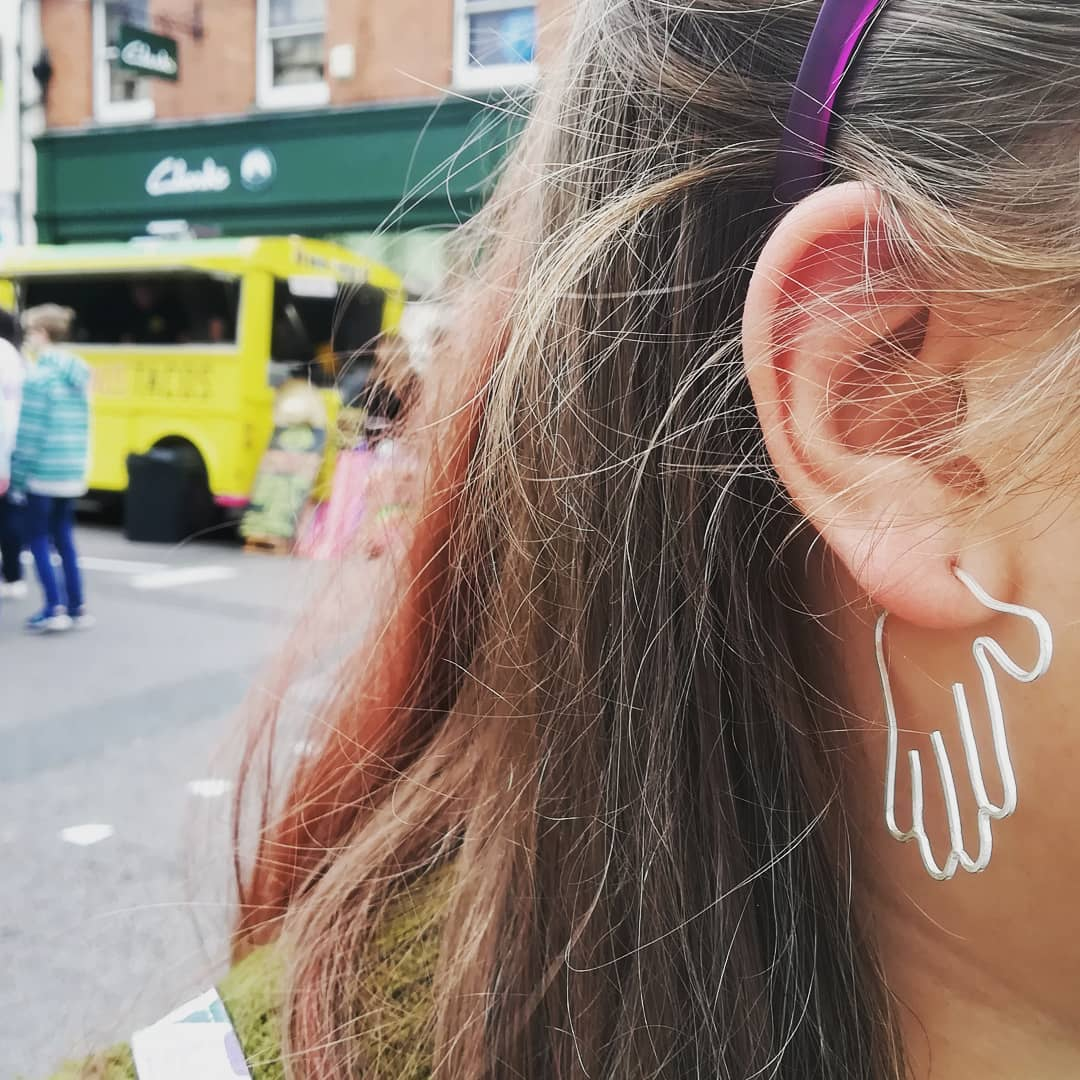 Wire Hand Earrings Abigail J Marsh