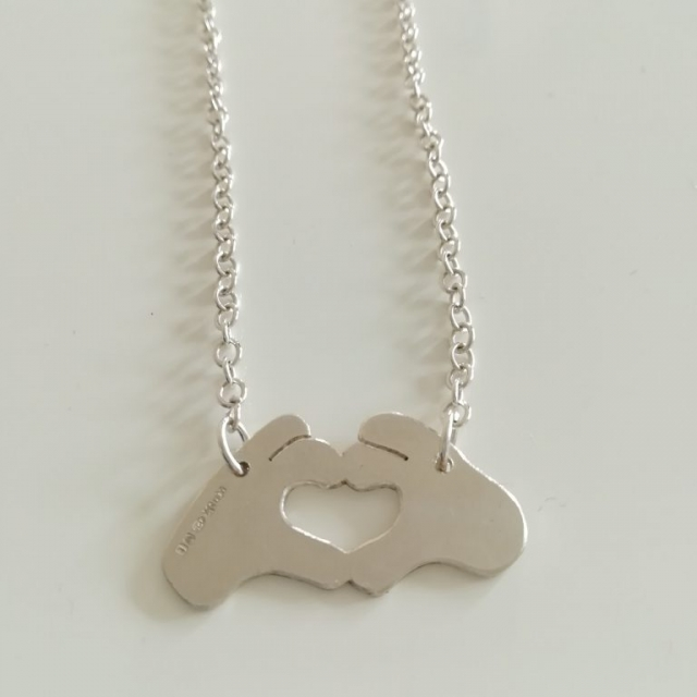 Heart Hands Necklace Abigail J Marsh