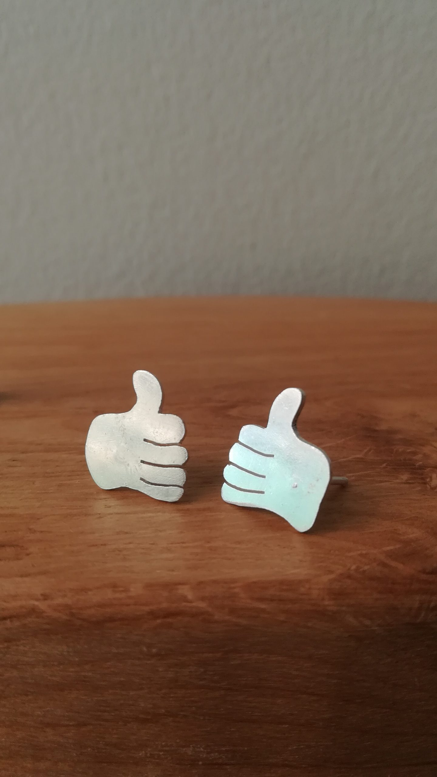 Thumbs Up Studs Abigail J Marsh