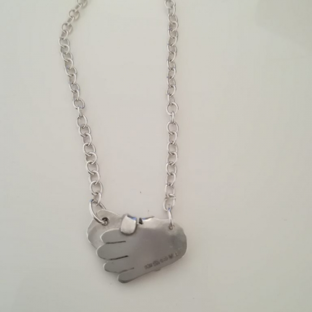 Hand Hold Necklace Abigail J Marsh