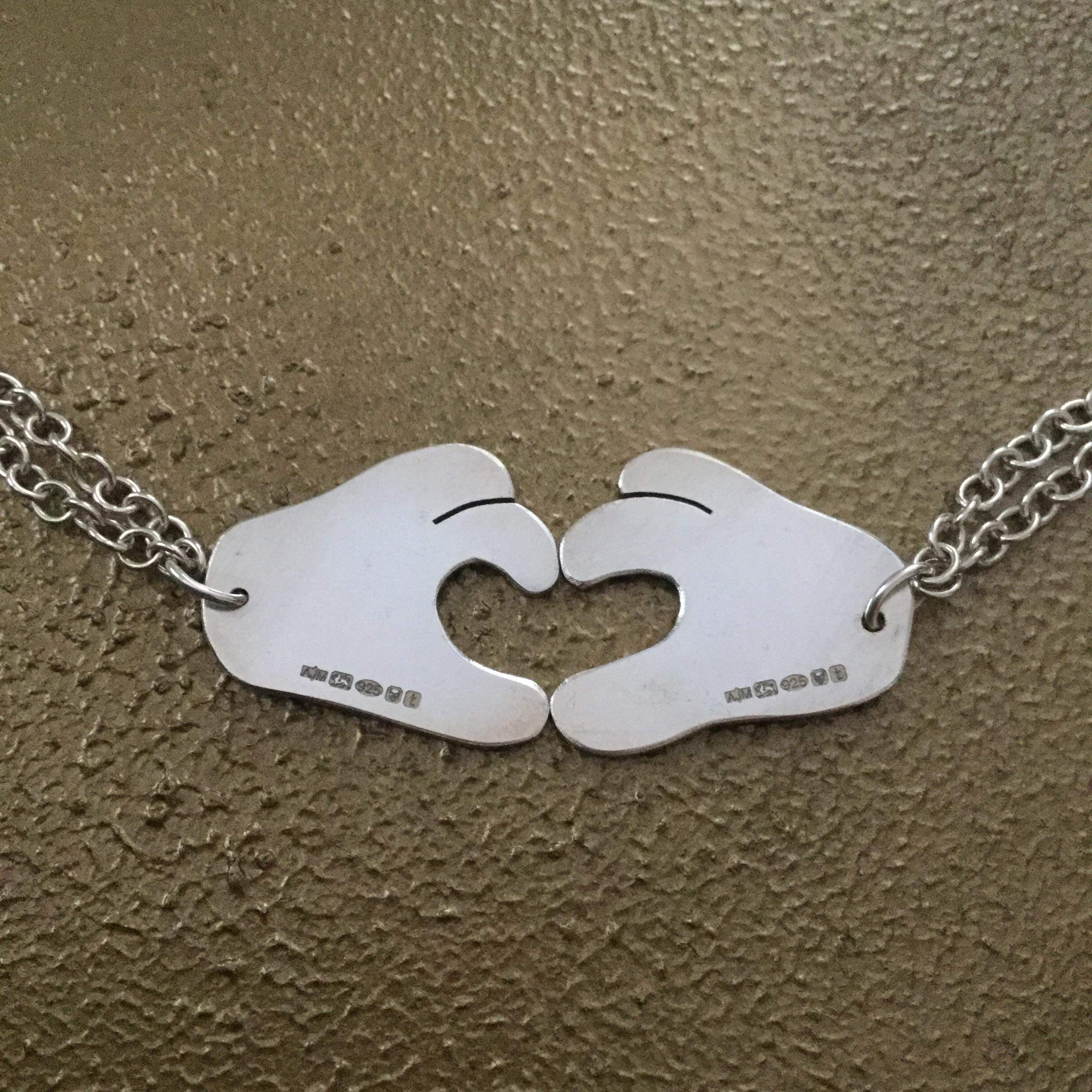 Joining Heart Hands Necklaces Abigail J Marsh